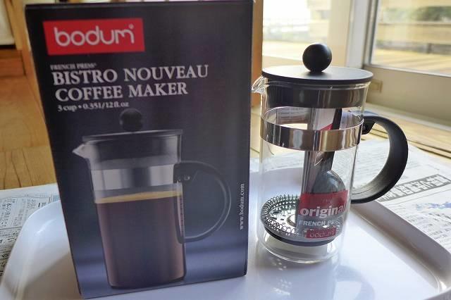 コーヒープレスで淹れるコーヒーは・・・