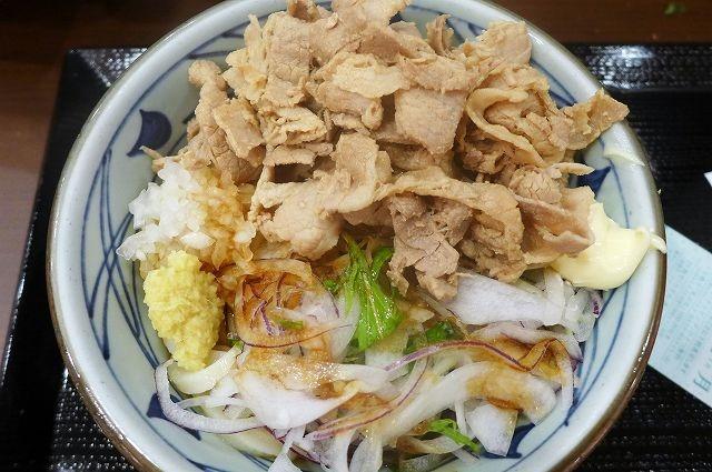 季節限定メニュー・豚しゃぶぶっかけをいただく 丸亀製麺@霞が関